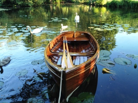 Traditional Wooden Clinker Rowing Boat
