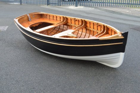 Traditional Wooden Clinker Rowing Boat8